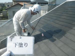 屋根下塗り!!