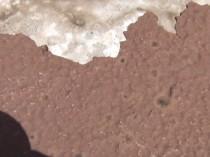 エレベーターボール最上部塗膜の劣化