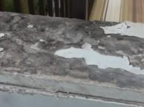 バルコニー手すりの塗膜剥離
