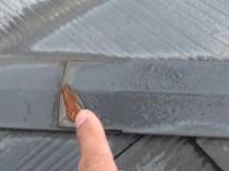 のぼり棟鋼板に赤錆 北