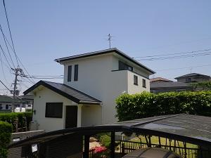 福岡市西区野方M様【屋根:夏季の熱暑を防ぐ塗料・外壁:汚れの染み込みを防ぐ塗料で塗装】:施工後