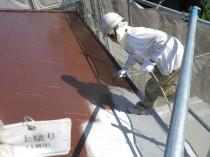 屋根上塗り1回