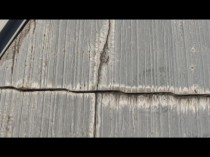 屋根 東 ひび割れ