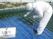屋根上塗り1(②)