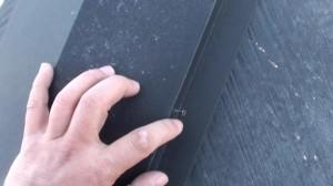 鋼板部分 釘の打ち替えについて