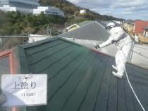 屋根上塗り1