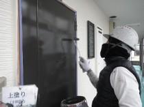 玄関ドア上塗り2