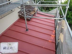 瓦棒(板金屋根)の塗装