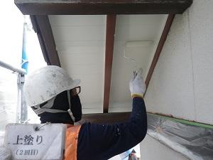 軒天井の塗装工事