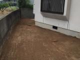 福岡市南区花畑S様 外構工事【お庭の地ならし・植物の伐採】