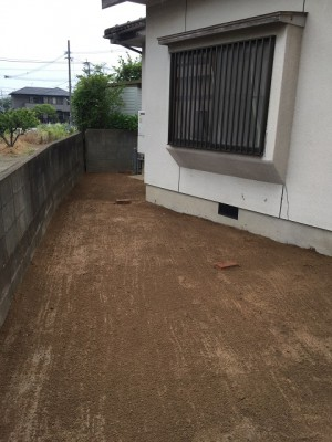 福岡市南区花畑S様 外構工事【お庭の地ならし・植物の伐採】:施工後