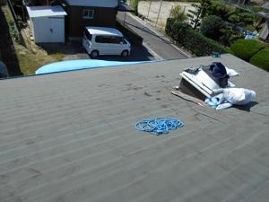 屋根の葺き替え工事(パブコグラスファイバーシングルへ)