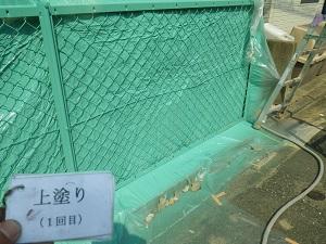 フェンスの塗装