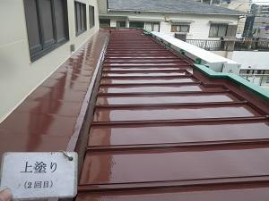 板金屋根の塗装工事