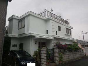 福岡市南区桧原T様【外壁素材:PC(プレキャストコンクリート・防水・伸縮性のある塗料で塗装】:施工後