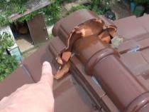 棟瓦のモルタル滑落