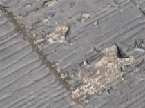 下屋根塗膜剥離