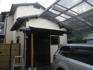 福岡市南区長住N様【外壁素材:モルタル・耐久性のある塗料で塗装】:施工後