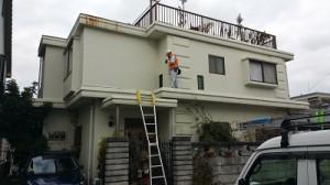 福岡市南区桧原T様【外壁素材:PC(プレキャストコンクリート・防水・伸縮性のある塗料で塗装】:施工前