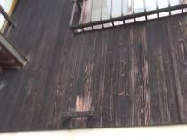 東 木部 塗膜剥離