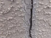 南 外壁 シーリング破断