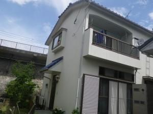 福岡市南区S様邸【外壁素材 モルタル 、高い耐候性と優れた伸縮性のある塗料で塗装】:施工前