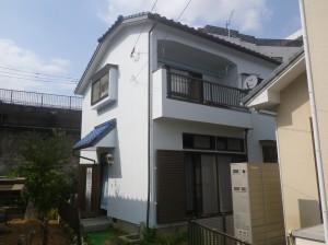 福岡市南区S様邸【外壁素材 モルタル 、高い耐候性と優れた伸縮性のある塗料で塗装】:施工後