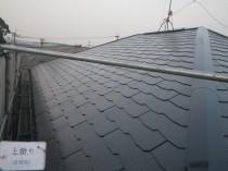 屋根上塗り2回目2