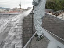 高圧洗浄屋根1