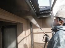 高圧洗浄外壁①