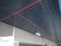 軒天井下塗り