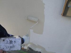 塀の上塗り!