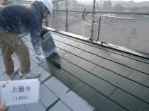 屋根上塗り1回目②