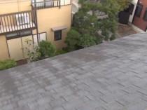 屋根北面 黒カビ