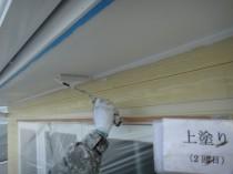 軒天井上塗り2回目