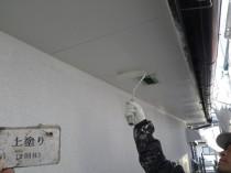 軒天井 上塗り2回目