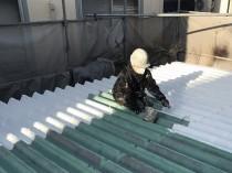 鋼板屋根 錆止め1