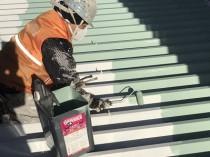 鋼板屋根 上塗り1回目1