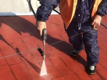 屋根 洗浄1