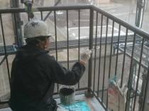 階段手すり 上塗り2回目1