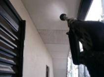 高圧洗浄 軒天井
