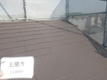屋根 上塗り1回目 (3)