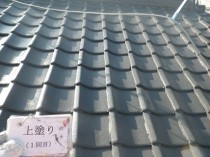 屋根 上塗り1回目 (2)