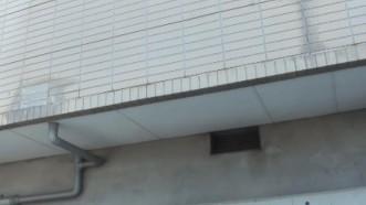 バルコニー側 外壁 変色