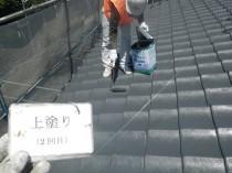 屋根 上塗り2回目 (2)