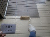 外壁  上塗り1回目 (4)