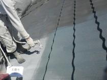 屋根 上塗り1かいめ