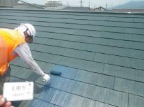屋根 上塗り2回目 (1)