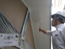 軒天井 上塗り1回目 (4)