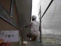 軒天井 下塗り (5)